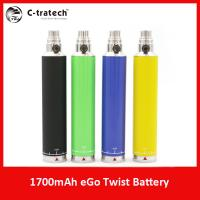 Ego  twist electronic cigarette ego  2014 China wholesale 1700 ego battery