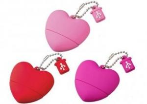 China Windows Xp 16G Heart Shape Plastic USB Drives KC-088 With Metal Part  on sale