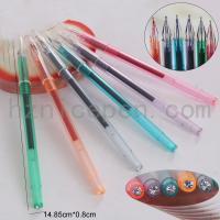 China 0442,transparent barrel gel pen on sale