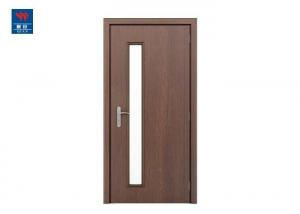 China Classic Black Walnut Veneer Fireproof Wooden Glass Door on sale