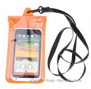 China Soft PVC underwater waterproof pouches , plastic waterproof phone pouch on sale