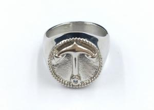 China Custom Made Stainless Steel Rings , Unisex Stainless Steel Thumb Rings on sale