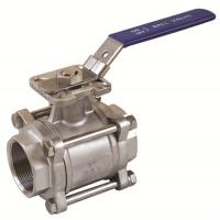 China 3PC ball valves threaded/socket weld/butt weld ball valvesd with high mounting pad on sale