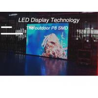 High Resolution P8 Outdoor LED Advertising Screens Full Color SMD3535 IP65 1/4 Scan