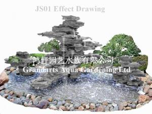 China artificial rock waterfall on sale