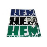 Pantone Custom PMS Vinyl Car Sticker / Auto Decorative Window Decals