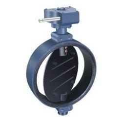 China dn100 hand lever operated wafer type grooved butterfly valve on sale