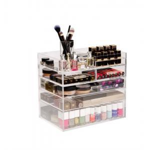 China NEW Acrylic Cosmetic Organizer Drawer Makeup Case Storage Insert Holder Box on sale