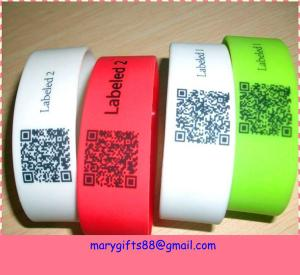 China QR silicone bracelet china maker on sale