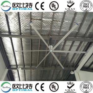 China OPT 20ft hvls industrial axial fans for factory cooling on sale