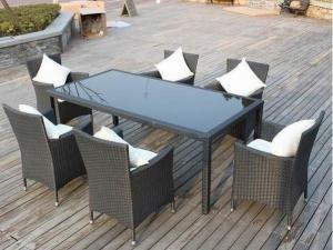 China PE Rattan garden outdoor wicker chair and table furniture on sale