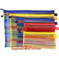 Wholesale Office School Supply A4/5/6 Mesh Zipper Document Bag Multicolor PVC A4 Archives Contract,Office School Supplie