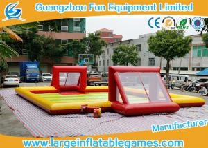 China Subbuteo Inflatable Football Field / Soccer Area inflatable soccer  For Bubble Bumper Ball Football Games on sale