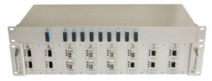 China 2U CWDM Fiber Optic Mux DEMUX with CLI WEB Telnet Management supplier