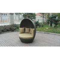 China Muebles al aire libre redondos del Daybed de la rota, cama de mimbre cubierta del salón on sale