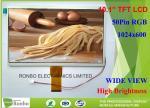 10.1 Inch 50 Pin High Luminace LCD Screen 1024 * 600 Resolution RGB Interface
