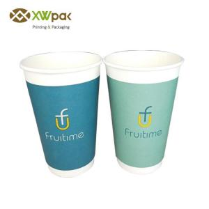 China Two Sides PE Coated Disposable Paper Coffee Cups 12oz / 8oz Size Food Grade on sale