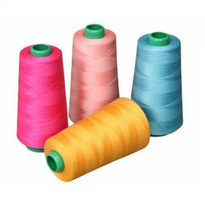 China Recycled Spun Dyed Polyester Yarn Good Elasticity Excellent Seam Strength on sale