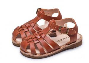 China Cowhide Lining  Toddler Boy Leather Sandals on sale