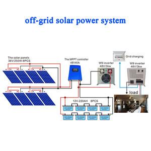 China 3 KW solar power system home use off-grid low frequency solar power system on sale