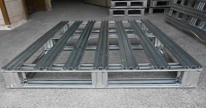 China Heavy Duty Metal steel spill pallets , stackable steel pallets 2 Way  Entry on sale