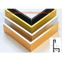Decorative Aluminium Picture Frame Mouldings Extrusions , Aluminium Picture Frame Profiles