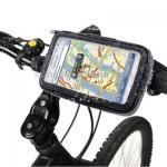 Caja del teléfono de la prenda impermeable del manillar del tenedor del soporte de la bici de la nota 2 de la galaxia de Samsung