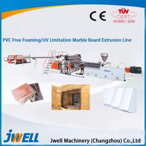 China PVC free foaming/UV imitation marble board extrusion line on sale