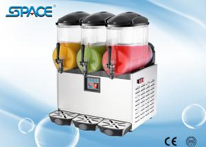 China 110 Volts 2 In 1 Frozen Drink Machine , Three Tank Slush Maker Machine on sale