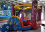 PVC0.55mm Small Indoor Inflatable Bouncy Castles 3.3X2.2X1.8m Customized Color