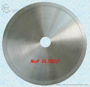 China Diamond Coated Continuous Rim Lapidary Saw Blade for Agate Jade Crystal and Glass - DLSB02 on sale
