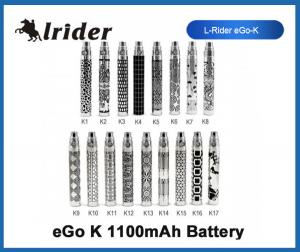 China 1100mAh Stainless Steel Mini E-Cigarettes Ego K 1650puffs With Queen King Battery Design on sale