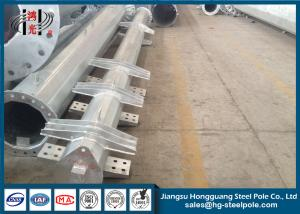 China 220KV Hot Dip Galvanized Steel Power Pole With Cross Arms , ODM / OEM Acceptable on sale