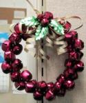 Christmas holiday jingle bell wreaths ornament