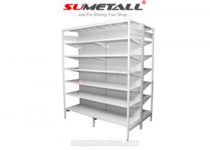 China Steel Retail Store Shelving With Round Hole Peg Panel / Retail Shop Display Stands on sale