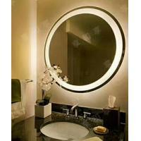 PVC back framed electric backlit bathroom mirror led light up mirror 80x80x3.5cm