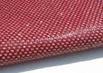 Bright Red Perforated Alcantara Fabric , PU Mirror Leather Perforated Polyester Fabric