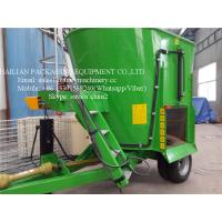 Green Vertical TMR Mixers For Feeding Animal , Cow Cattle Feeding Mixer