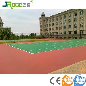 China Customized Blue Surface Outdoor Sport Court Flooring For Tennis Game on sale