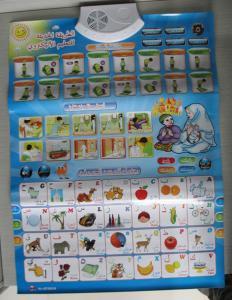 China Islamic Preschool Arabic Alphabet Chart, Arabic Educational Wall Chart For Children on sale