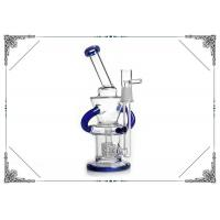 Glass Recycler Matrix Perc 8 Inches Bongs Smoking Blue Water Pipe
