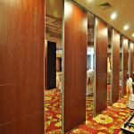 Soundproof Full Height Office Movable Sliding Partition Walls Metal Sheet