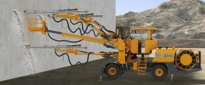 China Three Boom Hydraulic Rock Drill Jumbo With High Strength Alloy Beam on sale