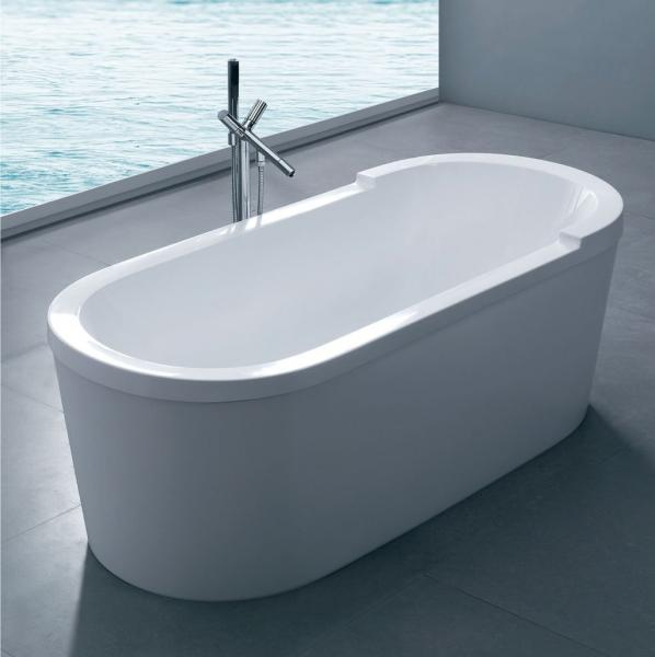 Cast Stone free standing soaking deep soaking bathtub whirlpool ...