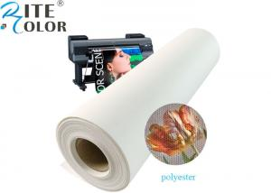 China Matte Inkjet Printing Polyester Canvas Roll 600d Eco Solvent 24 36 on sale