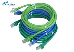 China Blue UTP CAT 5e Network Patch Cord High Precision Optional Cable Color 0.3m-30m on sale