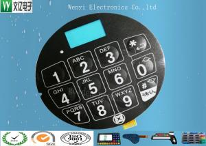 China Blue LCD Window FPC Membrane Switch With 3M468 Back Adhesive Matte Finish on sale