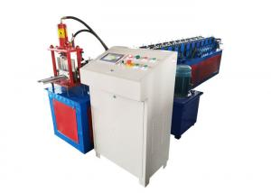 China 131mm Galvanized Roller Shutter Door Roll Forming Machine With PLC Control Box on sale