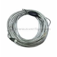 Female - Male 15 meters USB extension IC Cable with Transparent rubber ring
