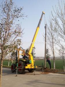 China OEM Loader Mounted Post Hole Digger / Small Bucket Mounted Hydraulic Post Hole Digger on sale